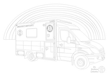 ambulance picture to colour in with Fun Furniture Collection, home of theme beds, toy boxes and storgae