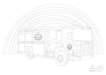 fire engine picture to colour in with Fun Furniture Collection, home of theme beds, storgae and toy boxes