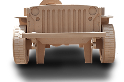 Willys Jeep Single theme kids Bed by Fun Furniture Collection