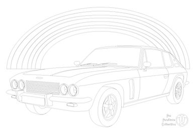 jensen interceptor car and rainbow picture to colour in with Fun Furniture Collection, home of kids theme beds, toy boxes and storage