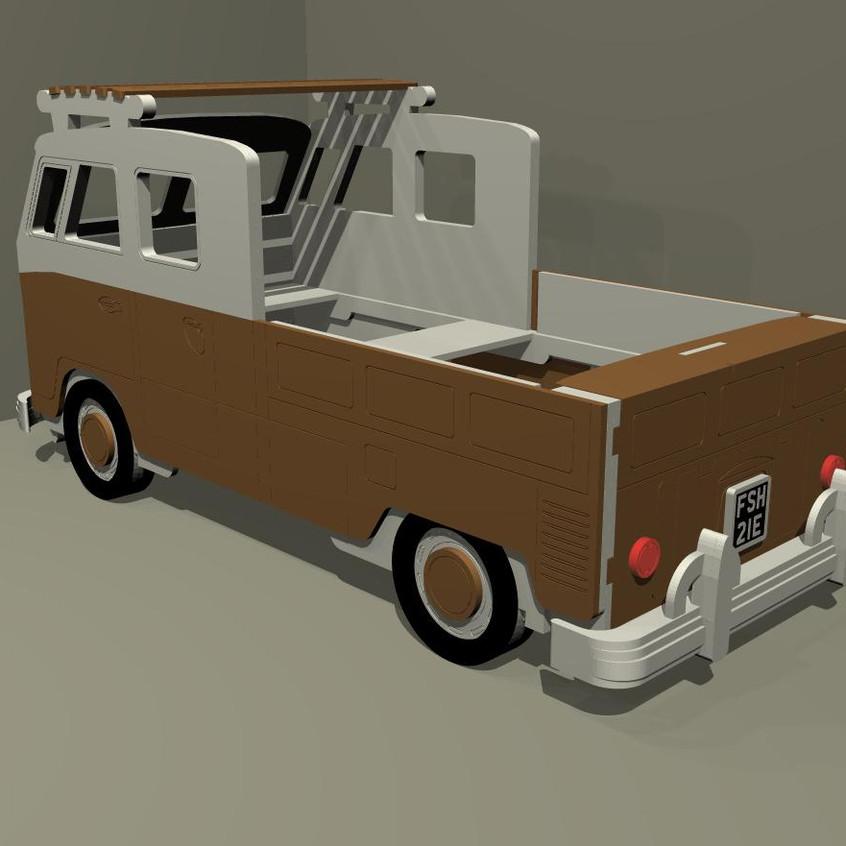 Split Screen Twin Cab Camper van