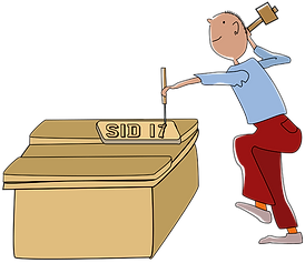 Cartoon image of mark from Fun Furniture Collection making your personal number plate that come s with all our kids theme beds