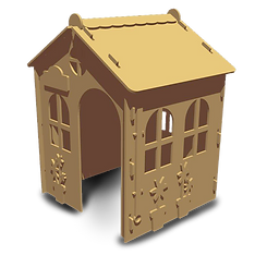 Cottage Paint'n' Play Play house by Fun Furniture Collection, makers of kids theme bed, toyboxes, storage and play houses.