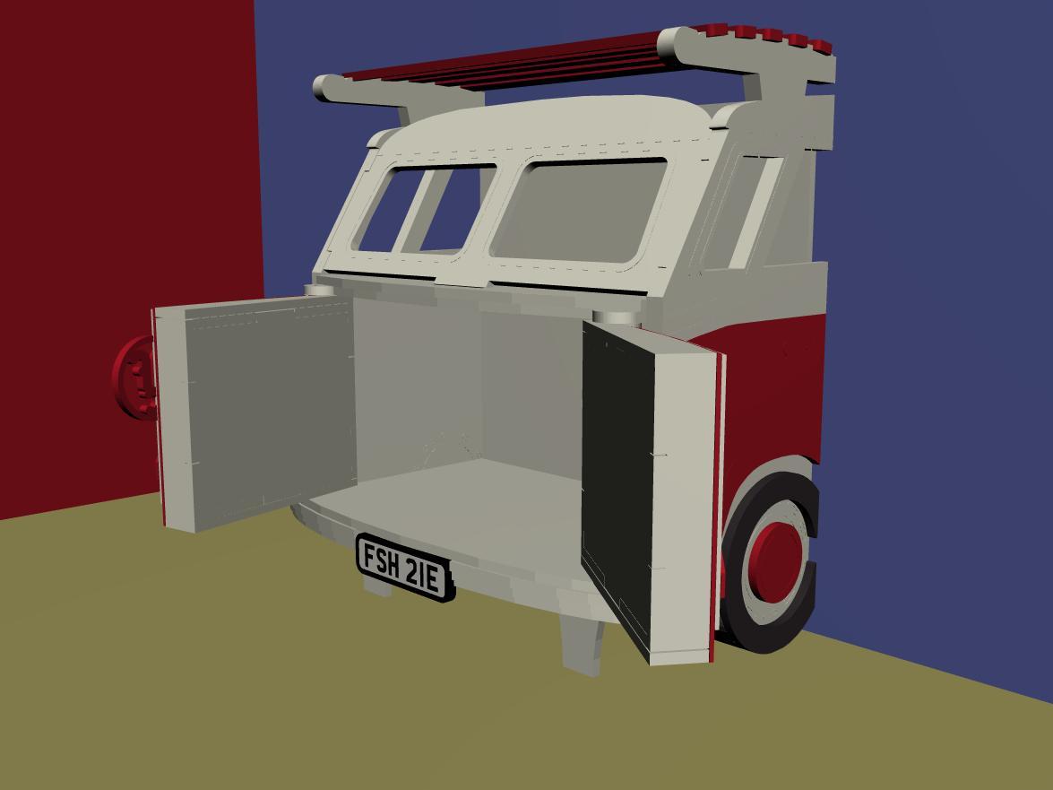 Split Screen Camper Van Storage Unit