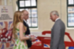 Mark Turner and Llinos Mair Pritchard founders and owners of Fun Furniture Collection meets HRH Prince of Wales and discusses their company and handmaking kids theme single and bunk bed