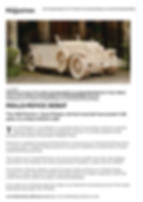 Ribble Valley Magazine showing our Rolls-Royce 1929 theme bed by Fun Furniture Collection makers of kuds theme car beds in an article.