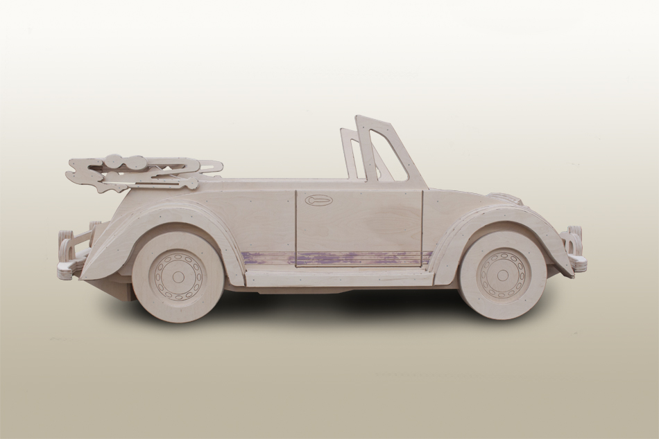 Beetle cabriolet single theme bed