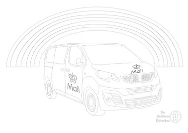 post office van picture to colour in with Fun Furniture Collection, home of theme beds, toy boxes and storae