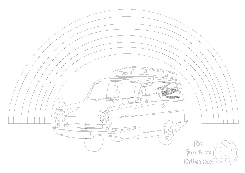 Reliant Robin picture to colour in by Fun Furniture Collection, home of theme beds, storage and toy boxes
