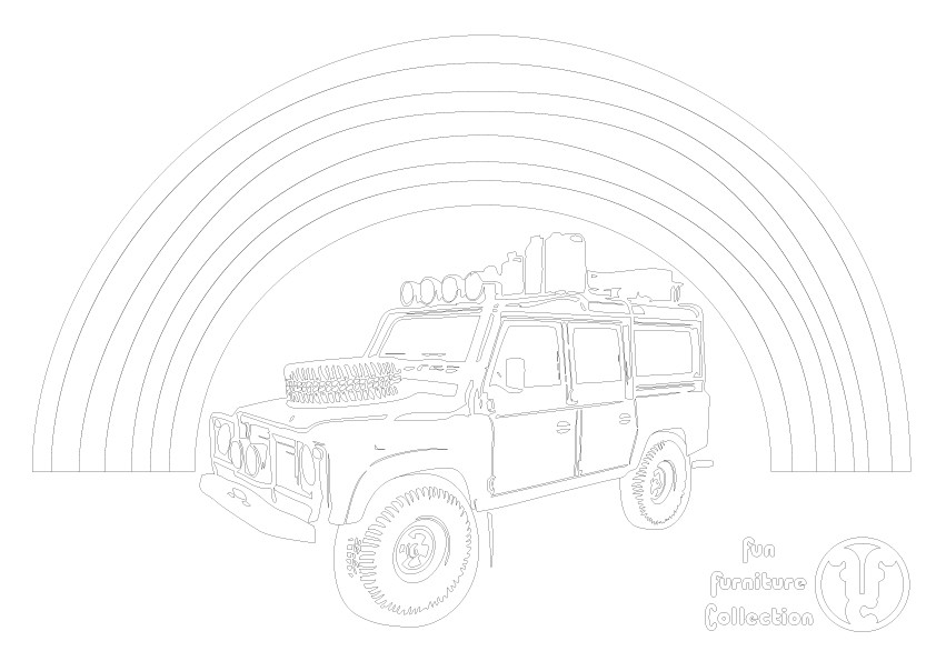 Land Rover 90 and Rainbow by Fun Furniture Collection, home of theme beds, toy boxes and storage