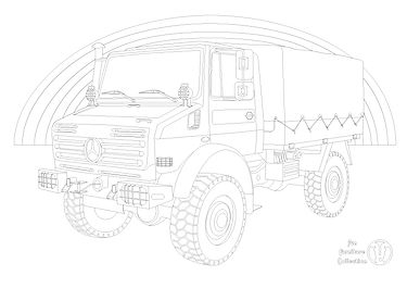 mercedes unimog and rainbow picture by Fun Furniture Collection, home of kids theme beds, toy boxes and storage