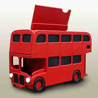 Route Master London Bus Toy Chest by Fun Furniture Collection