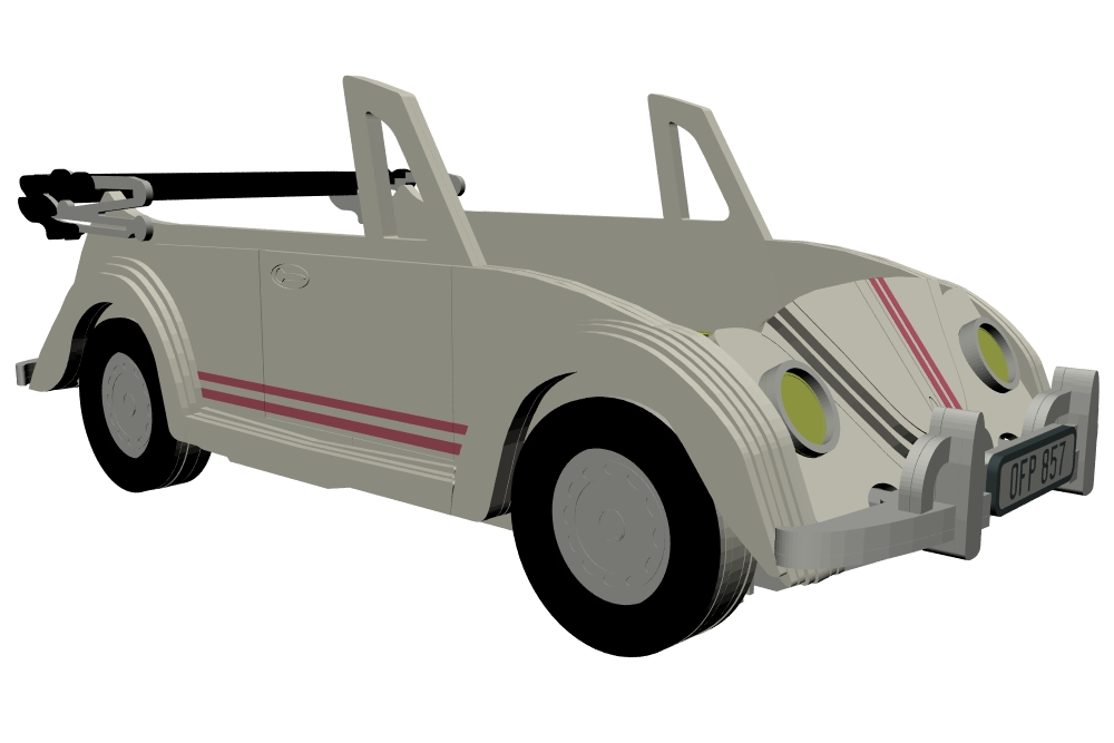 Beetle Cabriolet theme single bed