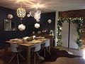 salle à manger table décorée noel
