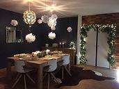 salle à manger table dressée décoration