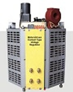 Motor driven contact type voltage regula