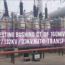 Bushing ( Turret ) CT Testing using KPM CT PT Pro