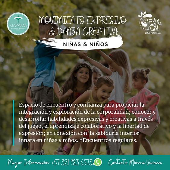 Movimiento Expresivo & Danza Creativa para Niñxs