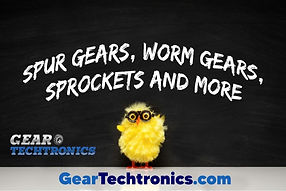 Spur Gears, Worm Gears, Sprockets and mo