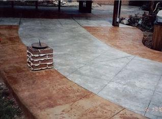 decorative concrete entry