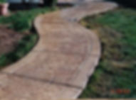 Boise custom decorative concrete sidewalk