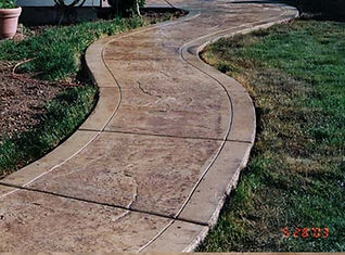 Boise custom decorative concrete sidewalk