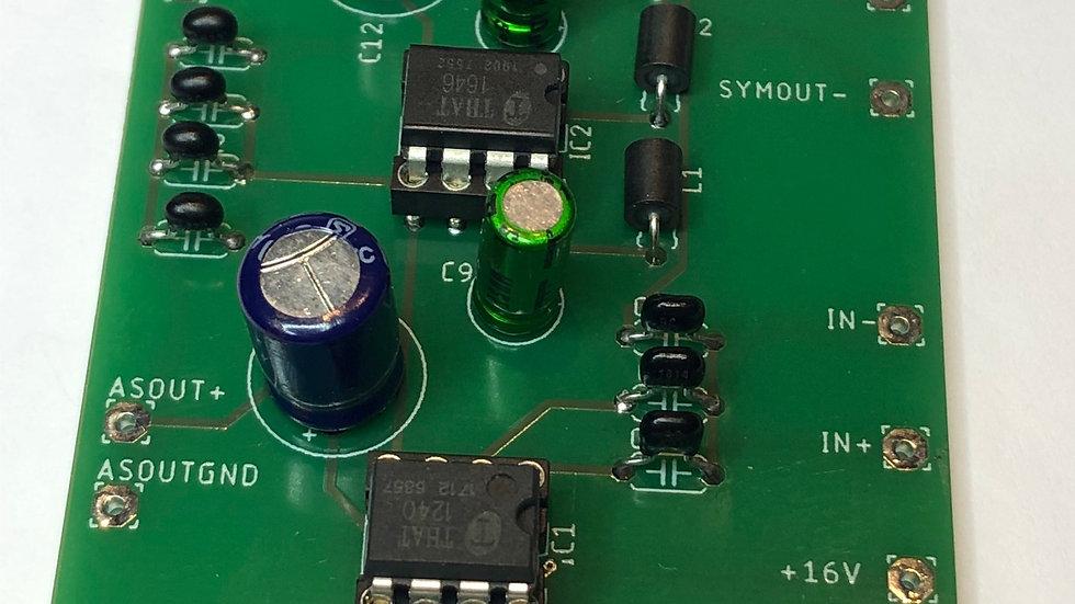 Asym-Sym zu Sym-Asym PCB, bestückt