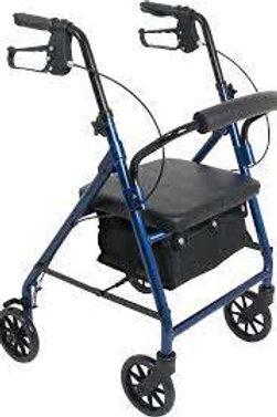 4 wheel walker with seat