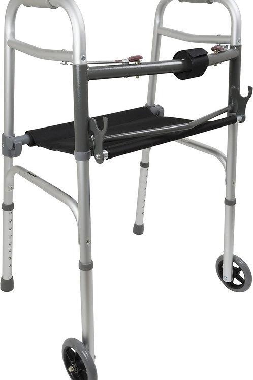 2 wheel walker with seat