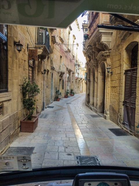 Narrow streets Vittoriosa Three Cities Malta Rolling Geeks Tour