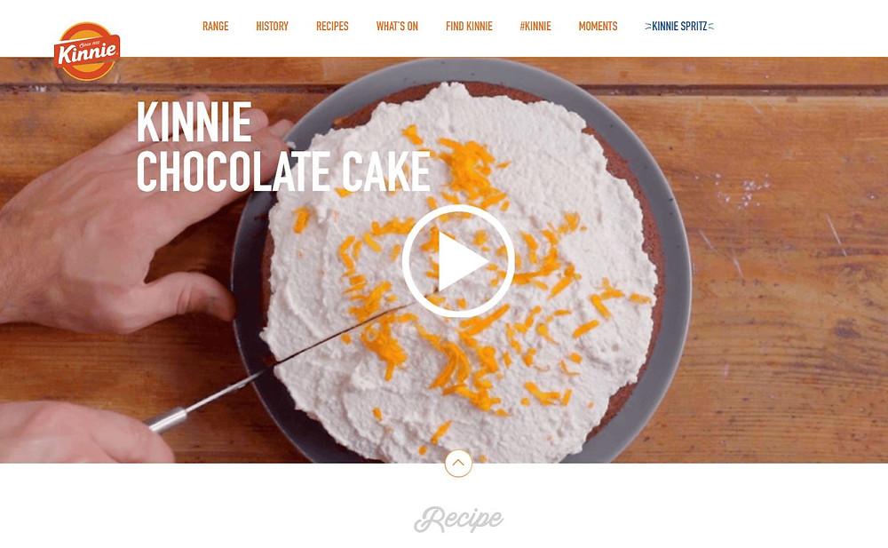 Kinnie chocolate cake