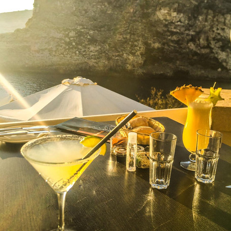 My favourite spot in Gozo for sunset cocktails and dinner!