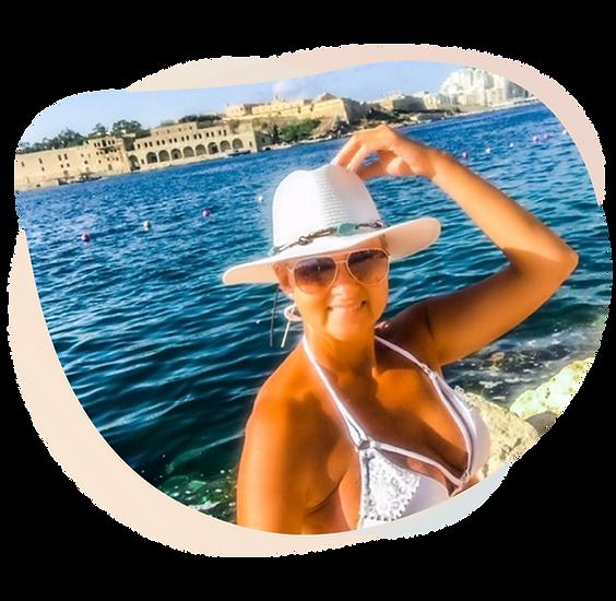 Happy girl in the sunshine Malta Vallett