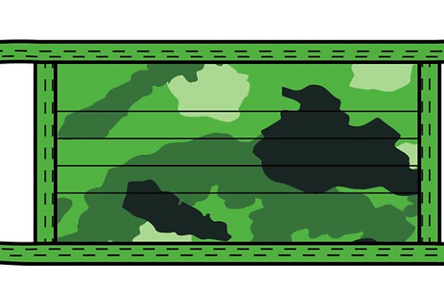 PRINTED MEDIUM ACCORDION GREEN CAMO PRINT