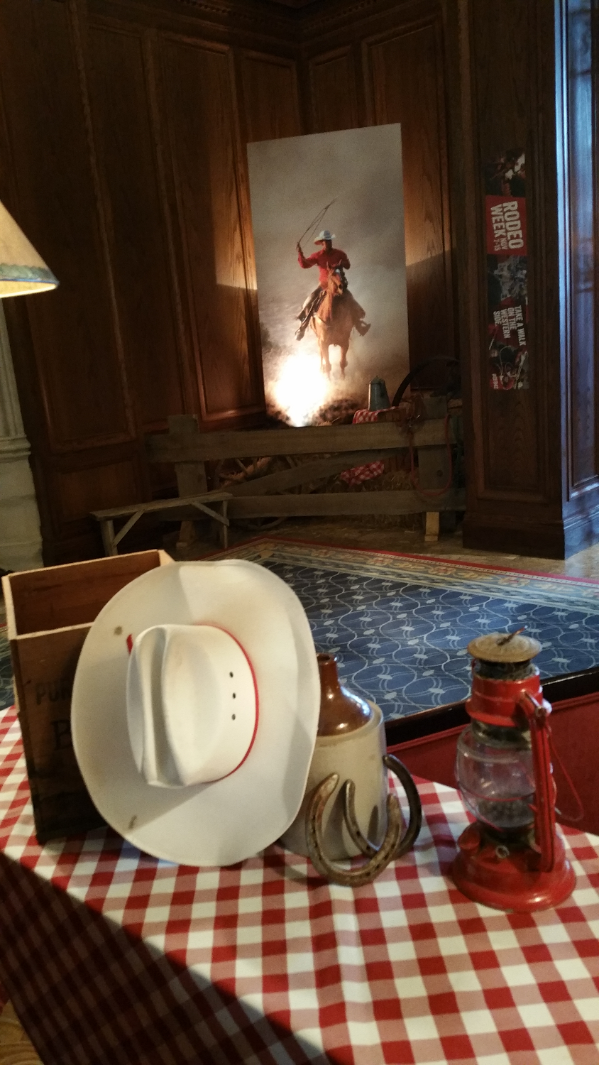 Rodeo decor at Hotel MacDonald
