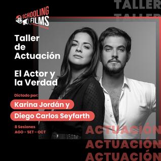 Taller: Actuación con Karina Jordàn y Diego Seifarth