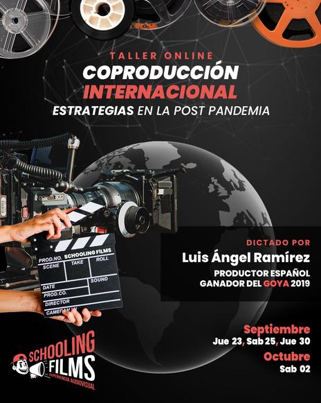 Flyer - Taller Coproducción Internacional y Estrategias en la Post Pandemia