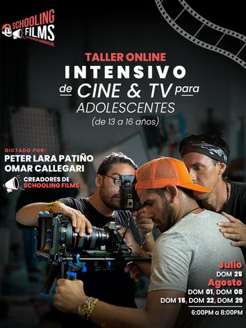 Flyer - Intensivo de cine para adolescentes de 13 a 16 años - Schooling Films.png