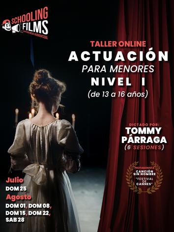 Flyer - Taller de Actuación para menores  con Tommy Párraga.png
