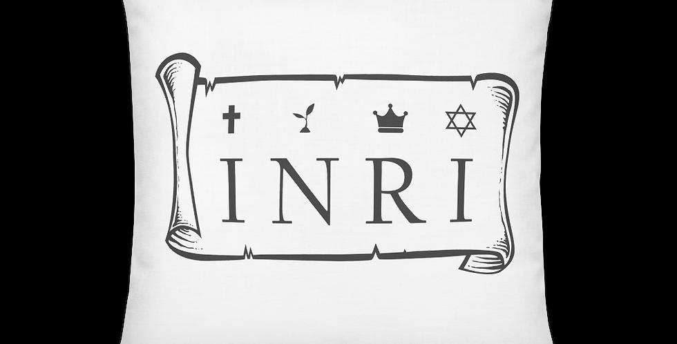 INRI / Jesus the Nazarene, King of the Jews Premium Pillow