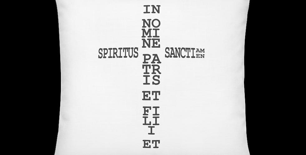 Signum Crucis / Sign of the Cross Premium Pillow