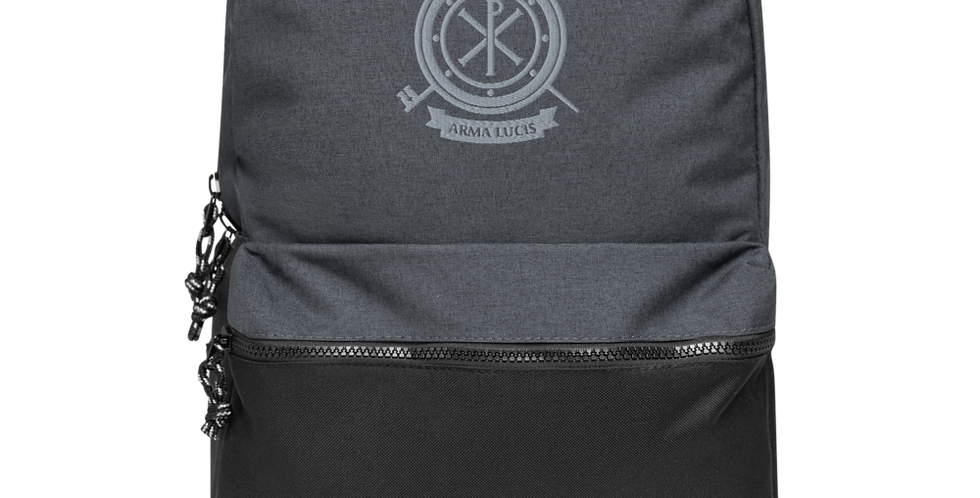 Arma Lucis / Armor of Light Embroidered Champion Backpack