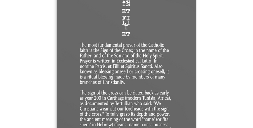 Signum Crucis / Sign of the Cross Post Card