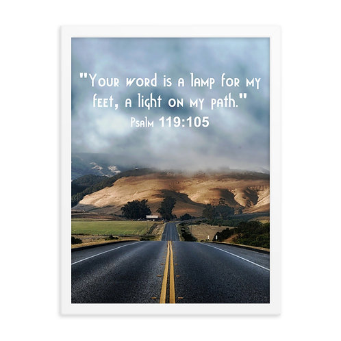 "Framed Poster ""Light On My Path"""