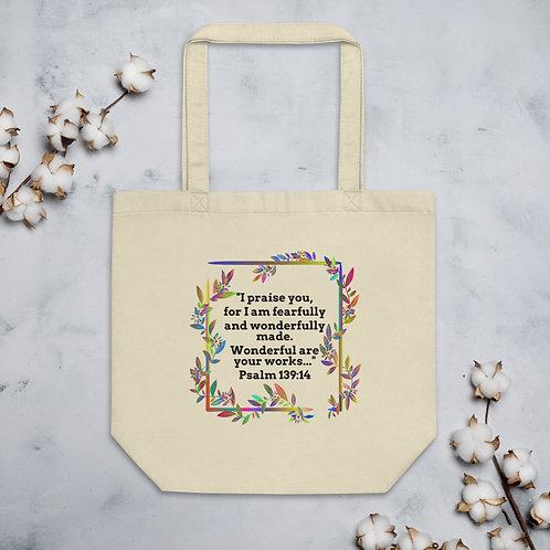 "Eco Tote Bag ""Wonderfully Made"""
