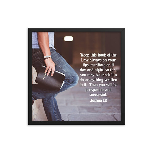 """Framed Poster """"Meditate On The Word"""""""