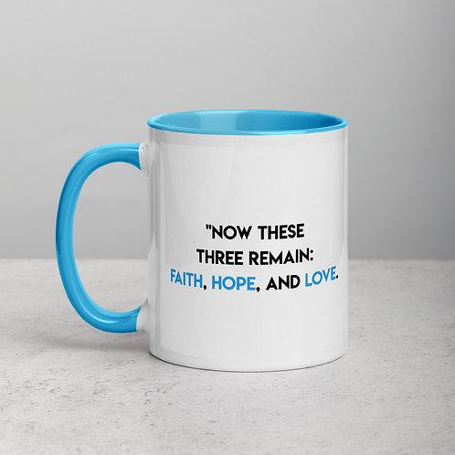 "Mug ""Faith, Hope And Love"""
