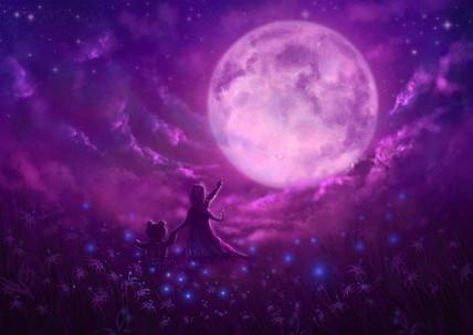 Goddess Luna and Calm Energy Transmission