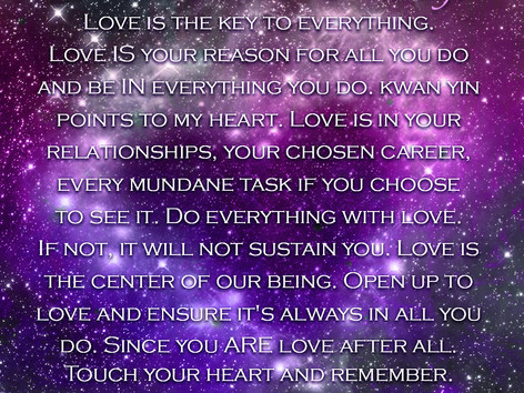 Divine Cosmic Message: Kwan Yin
