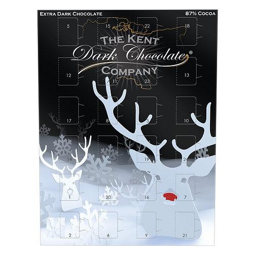 Advent Calendar Extra Dark Chocolate Bar 87% Cocoa Organic